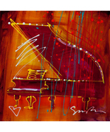 Music Is My Life by Simon Bull, Framed Giclee on Canvas -  NEW - $1,114.99