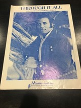 Through It All 1971 ANDRAE CROUCH Vintage Sheet Music - $14.43