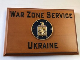 Central Intelligence Agency War Zone Service Ukraine Beveled Edge Wall P... - $49.49