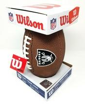 Authentic Wilson NFL Oakland Raiders Team Logo Mini Soft Touch Football - $14.75
