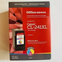 Office Depot Remanufactured High-Yield Tricolor Ink Comparable To Canon CL-241XL - $29.69