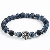 Leopard Tiger Eye Lion Head Bracelet Owl Buddha Bead Bracelets Bangles  ... - $13.14