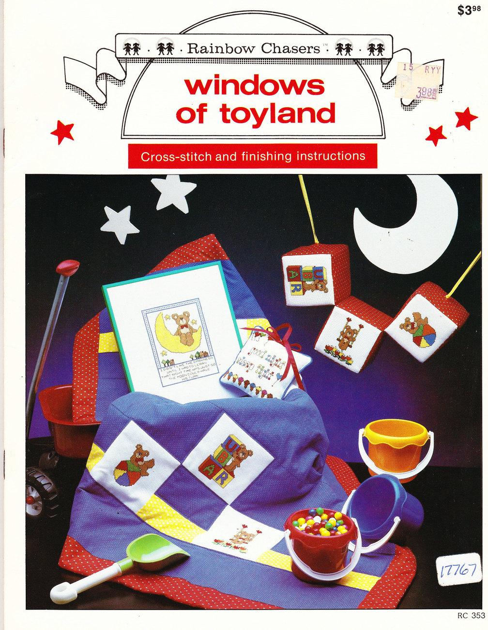 NEW CROSS STITCH WINDOWS OF TOYLAND RAINBOW CHASERS - $3.95