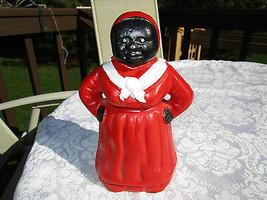 Vintage Cast Iron Mammy Piggy Bank Aunt Jamima~Black Americana - $18.49