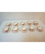Johnson Brothers Bros. Set of 10 Antique Mid-Century Tea Cups & Saucers - $75.00