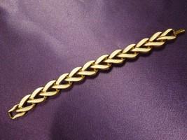 Napier Bracelet White Enamel and Gold Tone Chain Bracelet - $24.75