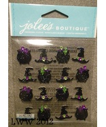 Jolee's Boutique Halloween Witches hats  Repeats Dimensional Stickers 16... - $3.49