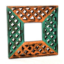 7X7 Picture Frames Made of Solid Wood High Definition Glass Table Top Display - $22.95