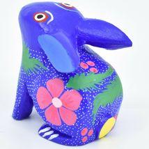 Handmade Oaxacan Alebrijes Painted Wood Folk Art Bunny Rabbit Figurine image 3