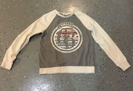 VANS off the Wall Gray crewneck sweatshirt sweater women size Small - $18.69