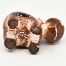 Crafts Caravan Soapstone Speckled Brown Hippopotamus Hippo Figurine Made Kenya image 5