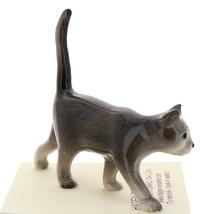 Hagen-Renaker Miniature Ceramic Cat Figurine Gray Cat Walking image 2