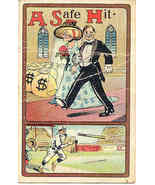 A Safe Hit Vintage Sports Theme  Post Card - $3.00