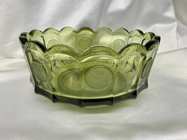 Vintage Fostoria Glass Olive Green Bell Coin Bowl - $29.00