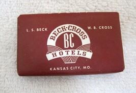 1940's-50's Vintage Hotel Motel Travel Soap's Beck Cross Hotels Kansas ... - $4.46