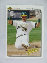 Terry Steinbach Oakland Athletics 1992 Upper Deck Baseball Card 473 - $0.98