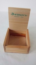 "Davidson's Organic Teas Empty Tea Bag Storage Box 3"" x 3"" Light Wood - $7.91"