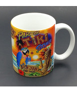 Ron Jon Surf Shop Coffee Mug Party Tiki Style Macaw Parrot Blue Gold Yel... - $12.99