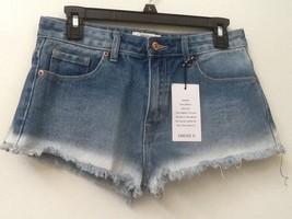 Forever 21 Denim Jean Cutoff Shorts Mid-Rise Blue Size 25 WOMENS NWT New - $15.95