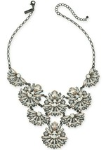 """I.n.c. Black-Tone Crystal Cluster Statement Necklace, 17"""" + 3"""" extender, Created"""