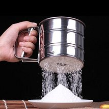 Stainless Steel Mechanical Baking Icing Flour Sugar Sifter Shaker - $18.54