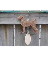 Vizsla dog crate tag or decor, hang it anywhere, handmade needlepoint by... - $19.00