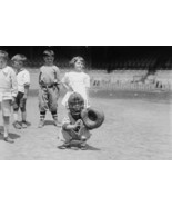 Pint sized Catcher awaits a pitch in Children's Baseball Game - Art Print - $19.99 - $179.99