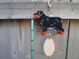 Rottweiler dog crate tag or home decor, hang it anywhere, handmade needl... - $20.00