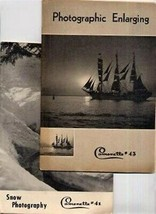 1946 Camerette Photographic Enlarging & Snow Photography Booklets - $24.72