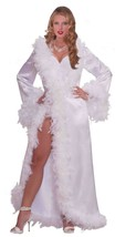 Forum Novelties Vintage Hollywood Marabou Satin Robe Halloween Costume 6... - $36.97