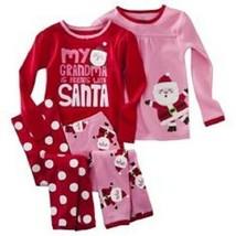 Carter's Just One Toddler Girls 4 Piece Set Christmas Pajamas Size18M 2T... - $17.59