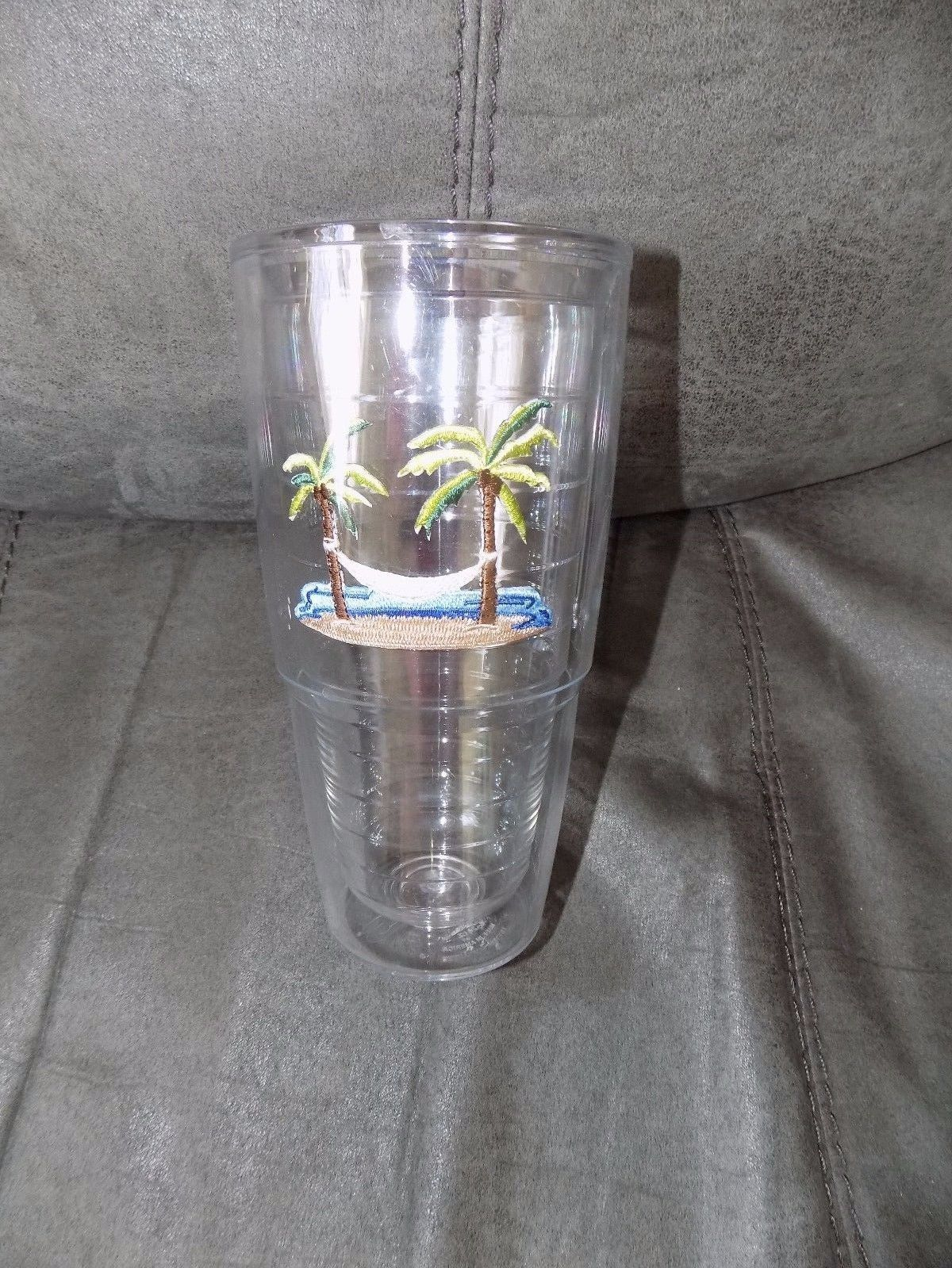 Primary image for Tervis Tumbler, 24 oz Palm Tree Hammock, Made in USA EUC