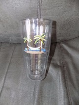 Tervis Tumbler, 24 oz Palm Tree Hammock, Made in USA EUC - $33.99