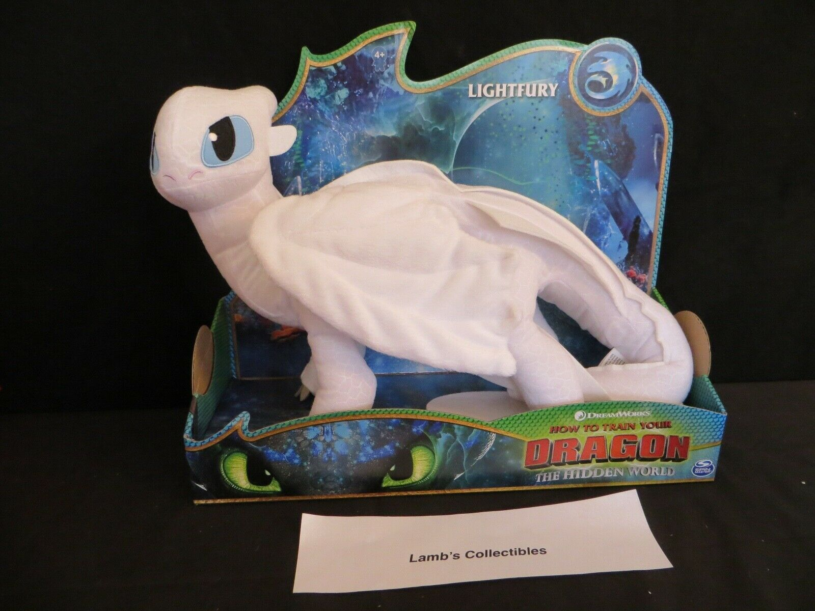 "Primary image for How to train your Dragon 3 The Hidden World 14"" Light Fury plush toy DreamWorks"