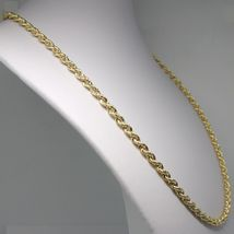 18K YELLOW GOLD CHAIN NECKLACE 5 MM BIG BRAID ROPE LINK 19.70 IN. MADE IN ITALY image 4