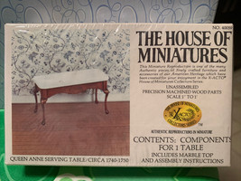 Dollhouse House of Miniatures Queen Anne Serving Table Circa 1740-1750 40059 New - $24.99
