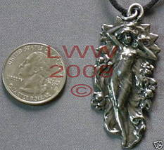Pewter Summer's Harvest Amulet Necklace Pendant Wiccan  - $5.85