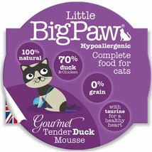 Little Big Paw Gourmet Wet Cat Food, Tender Duck Mousse 8 x 85g - $20.29