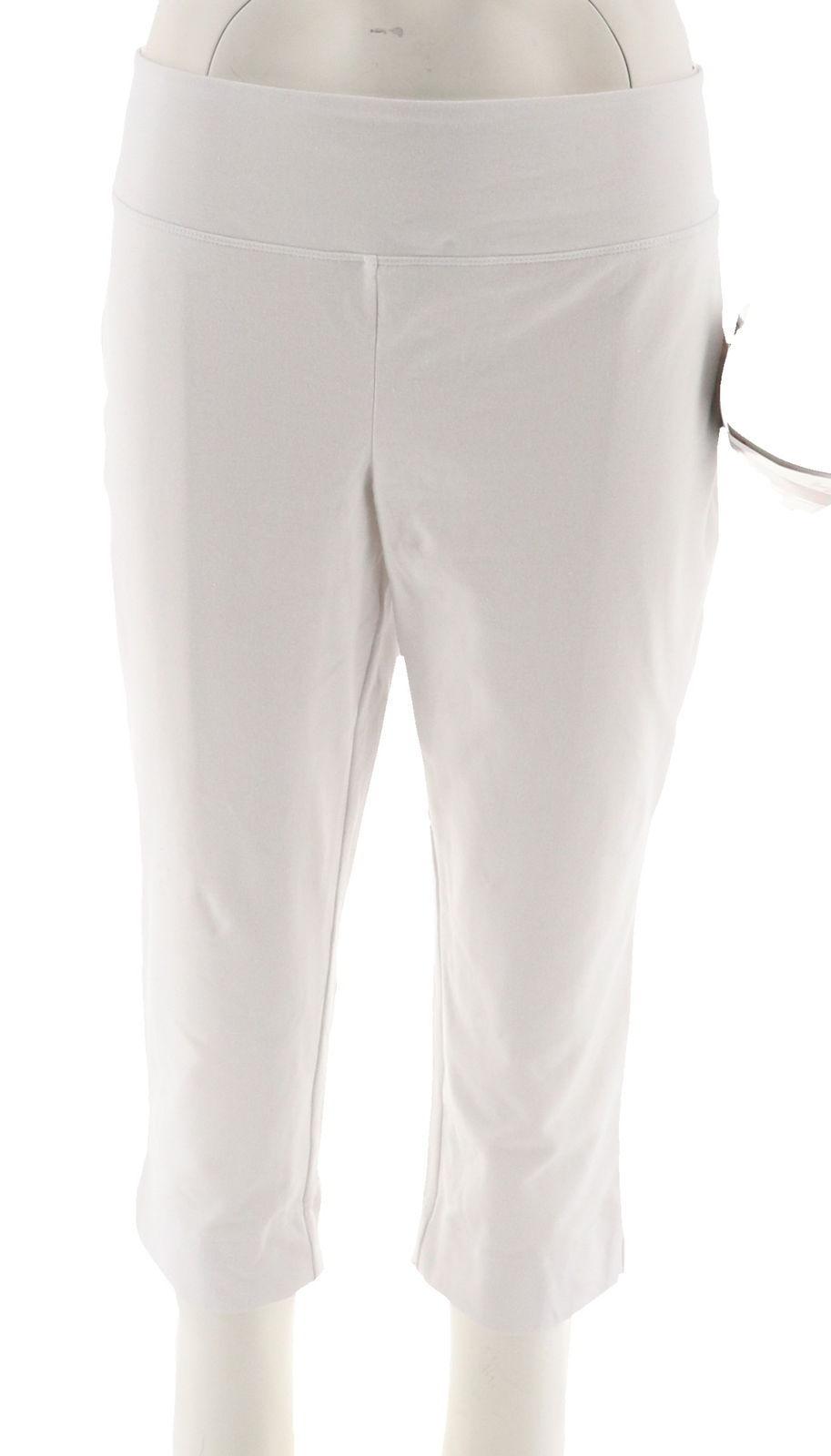 595a3e970c43c Wicked Women Control Capri Pants Elastic Waistband Alabaster M NEW A288782  - $21.76