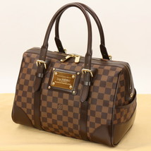 Auth LOUIS VUITTON Damier Ebene Barkley Boston Bag MINT #01D358 MPRS - $1,425.60