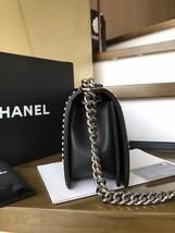 BNIB AUTHENTIC 2019 CHANEL BLACK Limited Edition Leather Medium Boy Flap Bag image 5