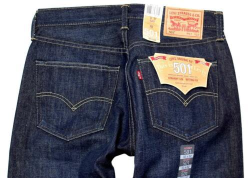 NEW LEVI'S 501 MEN'S ORIGINAL FIT STRAIGHT LEG JEANS BUTTON FLY BLUE 501-1332