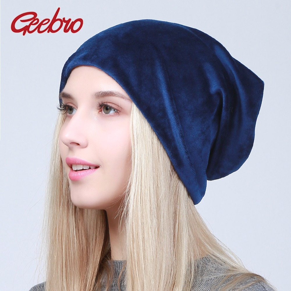 0f24322f8c Geebro Spring New Women's Velour Beanies Hat and 50 similar items