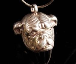 Vintage sterling BULLDOG pendant necklace - Mack dog - marine College football - $165.00