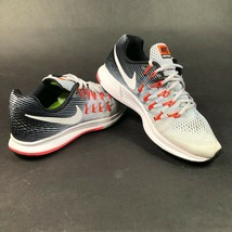 Nike Air Zoom Pegasus 33 Running Shoes Wolf Gray Black 831356 004 Womens 9.5 - $84.14
