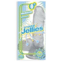 Crystal Jellies Ballsy C*ck 8.75 Inch - Clear - $31.04