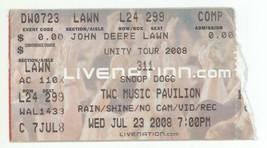 RARE 311 & Snoop Dog 7/23/08 Raleigh NC TWC Music Pav Concert Ticket Stub! - $6.92