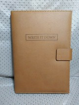 Write It Down Journal Lined Pages Brown - $8.99