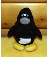 "Disney Club Penguin 7"" Plush Black & White Ninja Ready for Play - $5.59"