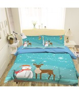 3D Christmas  Xmas 25 Bed Pillowcases Quilt Duvet Cover Set Single Queen... - $64.32+